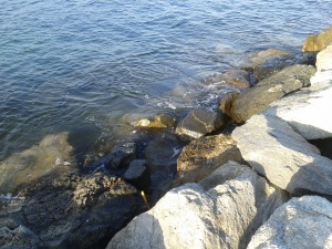 Uneven rocks