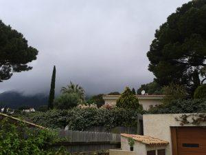 Cloud erasing mountain